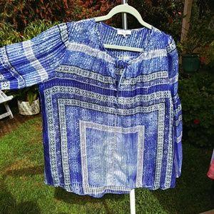 Parker Tops - Parker REAL Silk long sleeve blouse